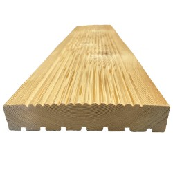 Siberian Larch Decking, 1x6x13 ft, SL2, Anti-Slip