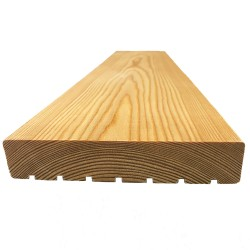 Siberian Larch Decking, 1x6x13 ft, SL3, Tension Groove