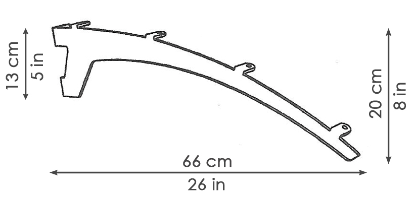 NVLodge QUARTZ Bracket Measurements